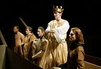 RICHARD II   by Shakespeare   design: Hildegard Bechtler   lighting: Peter Mumford   director: Deborah Warner ~centre: Fiona Shaw (Richard II)   right: Julian Rhind-Tutt (Edward, Duke of Aumerle)   ~C...