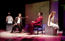 TINY KUSHNER   by Tony Kushner   set design: Annie Smart   costumes: Anita Yavich   lighting: Alexander V. Nichols   director: Tony Taccone   'TERMINATING OR SONNET LXXV OR 'LASS MEINE SCHMERZEN NICH...