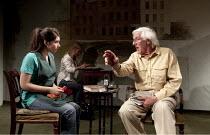 IF SO, THEN YES   by N.F. Simpson   design: Anthony Lamble   director: Simon Usher ~Gabrielle Dempsey (Maureen), Roddy Maude-Roxby (Geoffrey Wythenshaw) ~Jermyn Street Theatre, London SW1...