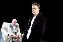 A NUMBER   by Caryl Churchill    design: Paul Wills   lighting: Oliver Fenwick   director: Jonathan Munby ~l-r: Timothy West (Salter), Samuel West (Bernard) ~Menier Chocolate Factory / London SE1...