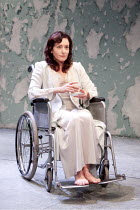 BROKEN GLASS   by Arthur Miller   design: Mike Britton   lighting: Matthew Eagland   director: Iqbal Khan ~Lucy Cohu (Sylvia Gellburg)~Tricycle Theatre, London NW6                       06/10/2010