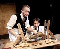 TERROR 2010: DEATH AND RESURRECTION - REANIMATOR   by William Ewart   director: Adam Meggido   l-r: Alex Bartram (West), Joseph Chance (Philips) Southwark Playhouse, London SE1                14/10/...