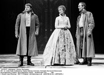 HAMLET  by Shakespeare  design: Maria Bjornson lighting: Chris Ellis fights director: Malcolm Ranson director: Ron Daniels <br> l-r Arthur Kohn (Guildenstern),Virginia McKenna (Gertrude), Christopher...