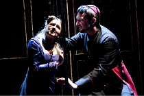 THE DUCHESS OF MALFI  by John Webster  design: Ruth Sutcliffe  lighting: Philip Gladwell  director: Laurie Sansom ~Claire Dargo (Julia), Daniel Fredenburgh (The Cardinal) ~Theatre Royal, Royal & Derng...
