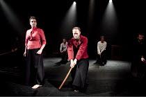 MACBETH   by Shakespeare   director: Grzegorz Bral ~Anna Zubrzycki (Lady Macbeth), Gabriel Gawin (Macbeth)~Song of the Goat Theatre (Poland) / bite10 / The Pit / Barbican Centre, London EC2   03/11/20...