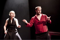 MACBETH   by Shakespeare   director: Grzegorz Bral ~Anu Salonen (Witch/ensemble), Gabriel Gawin (Macbeth)~Song of the Goat Theatre (Poland) / bite10 / The Pit / Barbican Centre, London EC2   03/11/201...