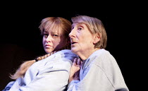 CHARGED 2: THAT ALMOST UNNAMEABLE LUST  by Rebecca Lenkiewicz   design: Soutra Gilmour   director: Caroline Steinbeis   l-r: Beatie Edney (Liz), Janet Henfry (Katherine)  Clean Break / Soho Theatre,...