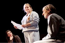 CHARGED 2: THAT ALMOST UNNAMEABLE LUST  by Rebecca Lenkiewicz   design: Soutra Gilmour   director: Caroline Steinbeis   l-r: Rebecca Oldfield (Writer), Beatie Edney (Liz), Janet Henfry (Katherine)...