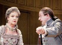 THE RIVALS   by Sheridan   set design: Simon Higlett   costumes: Christopher Woods   lighting: Jason Taylor   director: Peter Hall ~Penelope Keith (Mrs Malaprop), Peter Bowles (Sir Anthony Absolute)~T...