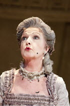 THE RIVALS   by Sheridan   set design: Simon Higlett   costumes: Christopher Woods   lighting: Jason Taylor   director: Peter Hall ~Penelope Keith (Mrs Malaprop)~Theatre Royal Bath production / Theatr...