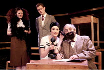 DECLINE AND FALL   by Evelyn Waugh   design: Richard Kent   lighting: Edmund Sutton   director: Tom King   l-r: Emily Murphy (Florence Fagan), Michael Lindall (Paul Pennyfeather), Fay Downie (Mrs Bes...