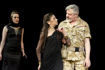ANTONY AND CLEOPATRA   by Shakespeare   design: Tom Piper   lighting: Wolfgang Gobbel   director: Michael Boyd ~III/xiii - l-r: Hannah Young (Charmian), Kathryn Hunter (Cleopatra), Darrell D'Silva (An...