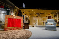 SEASON'S GREETINGS   by Alan Ayckbourn   design: Rae Smith   lighting: Bruno Poet   director: Marianne Elliott ~set   stage   props   puppet theatre~Lyttelton Theatre / National Theatre (NT), London S...