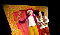 POTTED PANTO   written & performed by Daniel Clarkson & Jefferson Turner   set design: Simon Scullion   costumes: Helen Stewart   lighting: Robin Fisher   director: Richard Hurst ~'Dick Whittington' -...