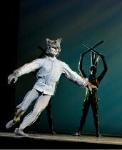 PETER AND THE WOLF   music: Prokofiev   choreography: Matthew Hart   design: Ian Spurling   lighting: John B Read   Sergei Polunin (Wolf) The Royal Ballet (RB) / Royal Opera House, Covent Garden   L...