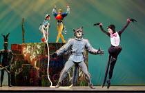 PETER AND THE WOLF   music: Prokofiev   choreography: Matthew Hart   design: Ian Spurling   lighting: John B Read   front: Sergei Polunin (Wolf), Chisato Katsura (Cat)   rear: Kilian Smith (Peter), L...