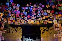 MATILDA   by Roald Dahl   book: Dennis Kelly   music & lyrics: Tim Minchin   design: Rob Howell   lighting: Hugh Vanstone   choreographer: Peter Darling   director: Matthew Warchus   set (detail) Ro...