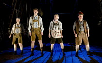 HANSEL AND GRETEL   writer: Carl Grose   after the Brothers Grimm   design: Michael Vale   lighting: Mike Gunning   director: Mike Shepherd ~l-r: Joanna Holden (Gretel), Chris Price (Hansel), Edith Ta...