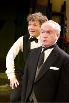 BY JEEVES   by Alan Ayckbourn & Andrew Lloyd Webber   design: Morgan Large   lighting: Mike Robertson   choreographer: Andrew Wright   director: Nick Bagnall ~l-r: Kevin Trainor (Bertie Wooster), Paul...