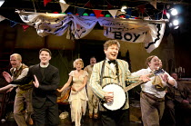 BY JEEVES   by Alan Ayckbourn & Andrew Lloyd Webber   design: Morgan Large   lighting: Mike Robertson   choreographer: Andrew Wright   director: Nick Bagnall ~front centre: Kevin Trainor (Bertie Woost...