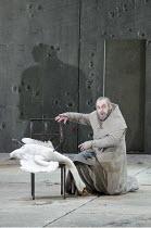 PARSIFAL   by Wagner   conductor: Mark Wigglesworth   set design: Raimund Bauer   costumes: Andrea Schmidt-Futterer   lighting: Duane Schuler   director: Nikolaus Lehnhoff ~Act I: John Tomlinson (Gurn...