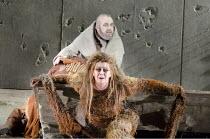 PARSIFAL   by Wagner   conductor: Mark Wigglesworth   set design: Raimund Bauer   costumes: Andrea Schmidt-Futterer   lighting: Duane Schuler   director: Nikolaus Lehnhoff ~Act I: Jane Dutton (Kundry)...