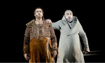 PARSIFAL   by Wagner   conductor: Mark Wigglesworth   set design: Raimund Bauer   costumes: Andrea Schmidt-Futterer   lighting: Duane Schuler   director: Nikolaus Lehnhoff ~Act I - l-r: Stuart Skelton...