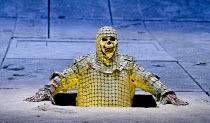 PARSIFAL   by Wagner   conductor: Mark Wigglesworth   set design: Raimund Bauer   costumes: Andrea Schmidt-Futterer   lighting: Duane Schuler   director: Nikolaus Lehnhoff ~Act I: Andrew Greenan (Titu...