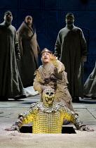 PARSIFAL   by Wagner   conductor: Mark Wigglesworth   set design: Raimund Bauer   costumes: Andrea Schmidt-Futterer   lighting: Duane Schuler   director: Nikolaus Lehnhoff ~Act I - front: Andrew Green...