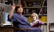 THE BREATH OF LIFE   by David Hare   design: Alex Eales   lighting: Paul Pyant   director: Peter Gill ~Isla Blair (Frances Beale), Patricia Hodge (Madeleine Palmer)~Lyceum Theatre / Sheffield, England...