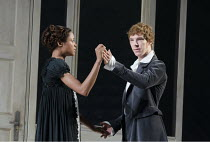 FRANKENSTEIN   by Nick Dear   based on the novel by Mary Shelley   set design: Mark Tildesley   costumes: Suttirat Anne Larlarb   lighting: Bruno Poet   director: Danny Boyle ~Naomie Harris (Elizabeth...