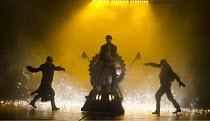 FRANKENSTEIN   by Nick Dear   based on the novel by Mary Shelley   set design: Mark Tildesley   costumes: Suttirat Anne Larlarb   lighting: Bruno Poet   director: Danny Boyle   'Industrial Revolution...
