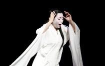 MADAM BUTTERFLY   by Puccini   conductor: Oliver Gooch   design: David Roger   lighting: Andrew Bridge   director: David Freeman ~Mihoko Kinoshita (Cio-Cio-San)~Royal Albert Hall, London SW7...
