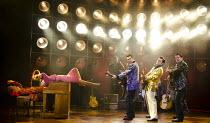 MILLION DOLLAR QUARTET   book: Colin Escott & Floyd Mutrux   set design: Derek McLane   costumes: Jane Greenwood   lighting: Howard Binkley   director: Eric Schaeffer ~~front right, l-r: Robert Britto...