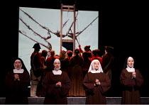 DIALOGUES DES CARMELITES   by Poulenc   conductor: Clive Timms   design: David Farley   lighting: Declan Randall   director: Stephen Barlow   l-r: Caroline Palmer (chorus), Emma Walsh (chorus), Sophi...