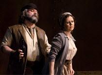 IL TABARRO   by Puccini   conductor: Michael Rosewell   design: Neil Irish   lighting: Guy Hoare   director: James Conway ~Simon Thorpe (Michele), Julie Unwin (Giorgetta)~English Touring Opera (ETO) /...