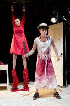 THE RED SHOES   adapted by Emma Rice & Mike Shepherd   after Hans Christian Andersen   design: Bill Mitchell   lighting: Malcolm Rippeth   director: Emma Rice ~Patrycja Kujawska (The Girl), Mike Sheph...