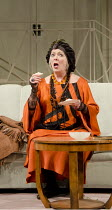 BLITHE SPIRIT   by Noel Coward   design: Hildegard Bechtler   lighting: Mark Henderson   director: Thea Sharrock ~Alison Steadman (Madame Arcati)~a Theatre Royal Bath production / Apollo Theatre, Lond...