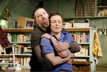 IN A FOREST, DARK AND DEEP   by Neil LaBute   design: Soutra Gilmour   lighting: Mark Henderson   director: Neil LaBute ~Matthew Fox (Bobby), Olivia Williams (Betty) ~Vaudeville Theatre, London WC2...