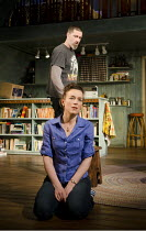 IN A FOREST, DARK AND DEEP   by Neil LaBute   design: Soutra Gilmour   lighting: Mark Henderson   director: Neil LaBute ~Olivia Williams (Betty), Matthew Fox (Bobby)~Vaudeville Theatre, London WC2...