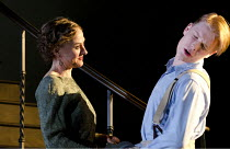 CAUSE CELEBRE   by Terence Rattigan   design: Hildegard Bechtler   lighting: Bruno Poet   director: Thea Sharrock ~Niamh Cusack (Edith Davenport), Freddie Fox (Tony Davenport)~Old Vic Theatre (OV), Lo...