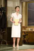ROCKET TO THE MOON   by Clifford Odets   design: Anthony Ward  lighting: Mark Henderson   director: Angus Jackson   Jessica Raine (Cleo Singer) Lyttelton Theatre / National Theatre (NT), London SE1...