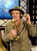 A CAVALIER FOR MILADY   by Tennessee Williams   design: Cherry Truluck   lighting: Phil Hewitt   director: Gene David Kirk ~Gillian Hanna (Mrs Josie Flattery)~The Cock Tavern Theatre, Kilburn London N...
