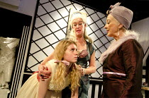 A CAVALIER FOR MILADY   by Tennessee Williams   design: Cherry Truluck   lighting: Phil Hewitt   director: Gene David Kirk   l-r: Caitlin Thorburn (Nance), Janet Prince (The Mother), Lucinda Curtis (...