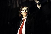 THE GOOD PERSON OF SICHUAN   by Brecht   design: Sue Blane   lighting: Jean Kalman   director: Deborah Warner ~Fiona Shaw (Shen Te)~Olivier Theatre / National Theatre (NT), London SE1     28/11/1989