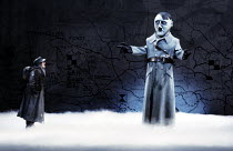 SCHWEYK IN THE SECOND WORLD WAR   by Brecht   set design: William Dudley   costumes: Lindy Hemming   lighting: William Bundy   director: Richard Eyre   left: Bill Paterson (Schweyk) Olivier Theatre...