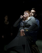 ELECTRA   by Sophocles   in a new version by Nick Payne   design: Holly Waddington   lighting: Guy Hoare   director: Carrie Cracknell ~Madeleine Potter (Clytemnestra), Alex Price (Orestes) ~Gate Theat...