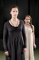 ELECTRA   by Sophocles   in a new version by Nick Payne   design: Holly Waddington   lighting: Guy Hoare   director: Carrie Cracknell ~l-r: Cath Whitefield (Electra), Jasmin Garrad (Young Electra) ~Ga...