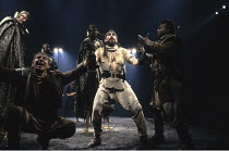 TAMBURLAINE THE GREAT   by Christopher Marlowe   design: Johan Engels   director: Terry Hands ~~centre: Antony Sher (Tamburlaine) ~Royal Shakespeare Company (RSC) / Swan Theatre     Stratford-upon-Avo...