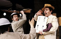 MAN EQUALS MAN   by Brecht   design: Ashley Martin Davis   lighting: Ben Ormerod   director: David Hayman ~right: John Sessions (Mr Wang the Bonze) ~Almeida Theatre, London N1                      20/...